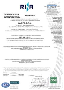 LA.SPE. - ISO 9001